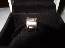 GENUINE PANDORA Sterling Silver 925 ALE 14k Gold Dots Drum Charm 790229