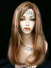 New Silky Straight Strawberry Candy Blonde & Auburn Wig JSSM RS29