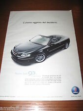 *AM25=SAAB 93 CABRIOLET=PUBBLICITA'=ADVERTISING=WERBUNG=COUPURE=