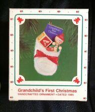 Vintage Hallmark Grandchild's First Christmas Ornament W/Box 1985