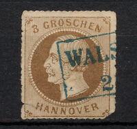 (YYAA 656) Hanover 1864 USED damaged GERMANY German states Hannover