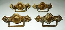 Set of 4 Antique Brass Baby Chick  / Chicken Motif Drawer Pulls