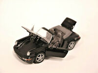 Porsche 911 (964) Cabriolet Carrera schwarz nero noir black, Schabak 1:43 boxed!