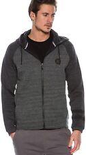 Men's Hurley Phantom Fleece full-zip hoodie heather/grey MFT0005990 sz 2XL