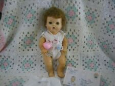 "1950's American Character Vynal Tiny Tears Doll~Hard Head,Saran Hair, 11"" `#30"