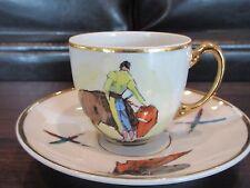 Vintage Matador Madrid Barcelona Demitasse Cup Saucer