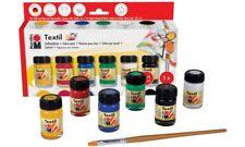 """Marabu Textilfarbe """"Textil"""" Starter Set 6x15ml Stoffmalfarbe+Pinsel"""