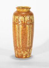 Rookwood Pottery production butterscotch panel geometric vase arts & crafts 1925