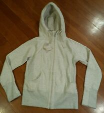 NEW Womens ACTIVE LIFE Oatmeal Heathered Full Zip Hooded Sweater Jacket Size XL