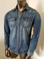 TRUE RELIGION SLIM Denim SHIRT - NWT - Size S