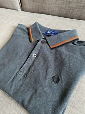 Fred Perry Grey Polo Shirt M1200 Twin Tipped S Small Mod Ska Skins Casuals Ivy