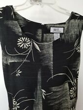 NWT BICE by SAG HARBOR Women Black Dress, Sleeveless, zipper, Slip Lined, Size L