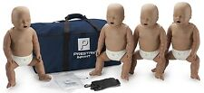 Prestan AED CPR Training Manikins with Mon 4 Pack INFANT Dark Skin PP-IM-400M-DS