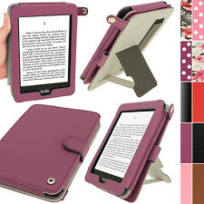 Lila PU Leder Tasche Hülle für Amazon Kindle Paperwhite 3G Wi-Fi 2GB Case Cover