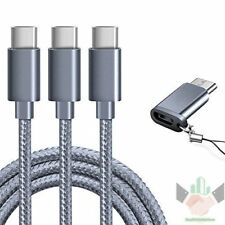 Samsung Galaxy S9 Note 8 S8 Plus USB Type C Cable Fast Charger Cord 3 Pack 6ft