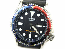 Gents Seiko 7N36-6A20 Pepsi Scuba Divers Quartz Watch - 200m