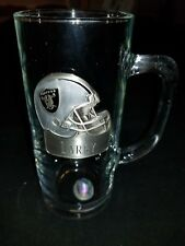NFL Glass Mug Stein pewter raiders helmet personalize with the name LARRY