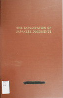 81 Page 1944 EXPLOITATION OF JAPANESE DOCUMENTS WWII War Department Book on CD