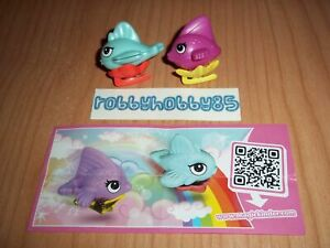 FLYING FISHES COMPLETE SET WITH ALL PAPERS KINDER SURPRISE EGG TOYS 2014/2015