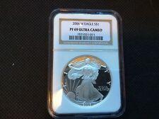 2006-W $1 Proof American Silver Eagle NGC PF69 Ultra Cameo - White - No Spots