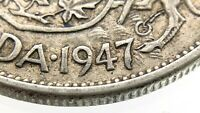 1947 C7 ND Narrow Date Canada 50 Cents Half Dollar Circulated Silver Coin R621