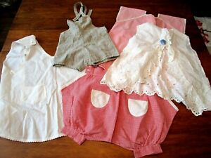 Vtg 1930s Childrens Clothing Lot Pinafore Apron Shorts Rompers Cute Cotton Lot 5