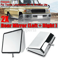 2x Door Left Right Rearview Mirror For Toyota Land Cruiser 70 75 78 Series HILUX