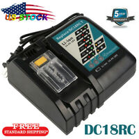 For Makita DC18RC Rapid Fast Lithium-Ion Battery Charger (BL1815,BL1820,BL1830)