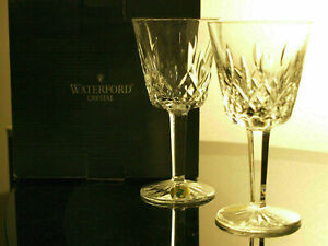 Waterford Crystal Lismore Claret Wine Glass Pair Brand New Boxed