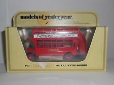 Matchbox Models Of Yesteryear Y23 1922 AEC S Type Omnibus Schweppes