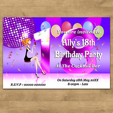10 Personalised Birthday Party Invites 21st 30th 40th 50th 65th 70th Any Age