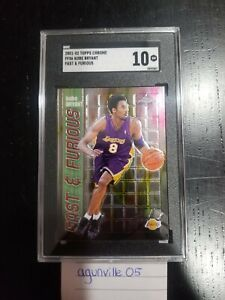 2001-02 Topps Chrome Fast & Furious FF06 Kobe Bryant Los Angeles Lakers SGC 10
