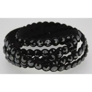 Swarovski Damen Power Collection Armband Alcantara Kristall schwarz 5512512