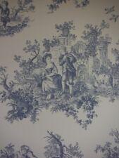 Provencale Countryside Dark Blue Toile De Jouy Wallpaper 6117 Shabby Chic