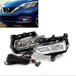 For 2017-2019 Nissan Versa Note Halogen light Bumper Front fog lights Kit