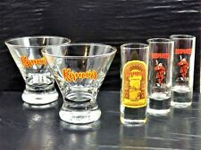 Set of 2 Kahlua Exotic Cocktail & Shot Glass Beefeaters Glassware Bar Ware Home
