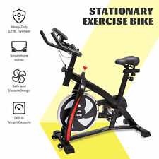 Exercise Bike with Phone Holder Heart Rate Monitor Adjustable Seat and Handlebar