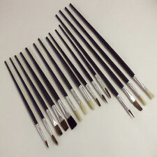 30 Artist Brushes Paint Brush Set Assorted Sizes Acrylic Oil Brushes Flat Tipped