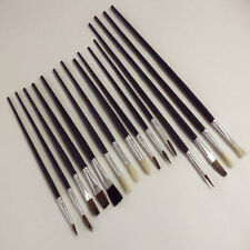 Pinceles de Artista 15 Conjunto de cepillo de pintura Tamaños Surtidos Acrílico Pinceles plana con Punta de aceite