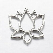 4 Lotus Flower Pendant Charm Connector (GGB)