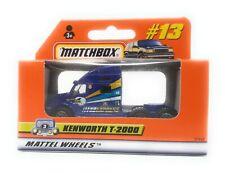 Matchbox MBX Superfast 1999 No 13 Kenworth T 2000 Truck blue ROW Version box