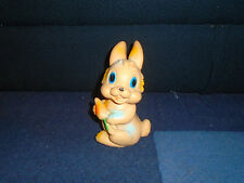 Rabbit With Carrot - Biserka Zagreb - Ex-Yugoslavia Rubber Toy (K-9)