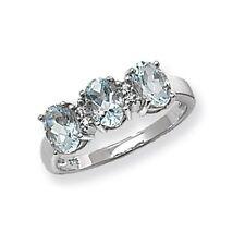 Aquamarine Oval Fine Diamond Rings