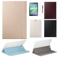 Leather Case Smart Cover For Samsung Galaxy Tab S2 8/9.7 Inch With Film And Pen