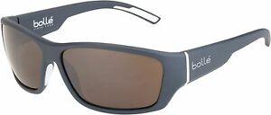 BOLLE Sunglasses IBEX Matte Grey with 100 GUN Very Dark Brown CAT.4 Lenses 12376