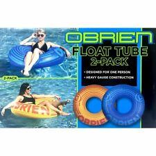 Obrien Float Tube 2-Pack (Blue and Orange) Inflatable Water Lounge Pool Raft Lak