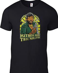 SHOLAY T-shirt Gabbar Singh Vintage KITNEH ADMI TEH KALIYAH Bollywood Indian B