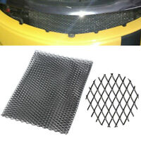"40""x13"" Universal Car Vehicle Black Silver Body Grille Net Aluminum Mesh Grill"