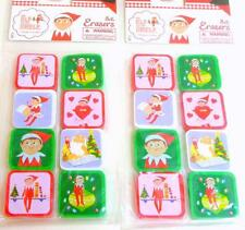 16 THE ELF ON THE SHELF Christmas Erasers Party Favors Stocking Stuffers