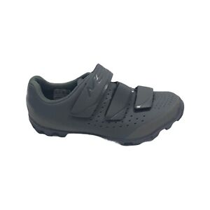 Shimano SHME201W Gray Leather Cycling Shoes Hook Loop Euro 37 US 5.5